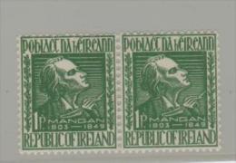 Irl Mi.Nr. 110/  IRLAND - James Clarence Mangan  (Paar) **MNH - Unused Stamps