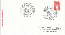 OBLITERATION PORTES OUVERTES CENTRE D'ESSAIS DES LANDES BISCAROSSE 1978 - Marcophilie (Lettres)