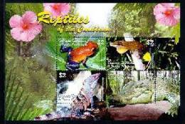 GRENADA   GRENADINES   2580 MINT NEVER HINGED MINI SHEET OF WILDLIFE & ANIMALS ; REPTILES - Briefmarken