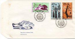 TCHECOSLOVAQUIE. N°1493-4 & 1496 De 1966 Sur Enveloppe 1er Jour. Indiens/Chasse à L'arc. - American Indians