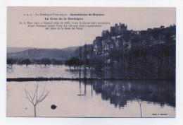 BEYNAC    24   DORDOGNE PERIGORD   LA CRUE DE LA DORDOGNE LE 25 MARS 1912  VUE PRISE DE LA GARE DE VEZAC - France