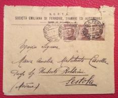 MODENA - 1921- BUSTA PUBBLICITARIA S.E.F.T.A. SOC.EMILIANA FERROVIE TRAMVIE ED AUTOMOBILI - PER SESTOLA - Werbepostkarten