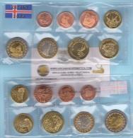 VERY RARE!!!   ICELAND / ISLANDIA  Set 8 Coins Euro 2.004  UNCIRCULATED  T-DL-11.169 Holanda - Prove Private
