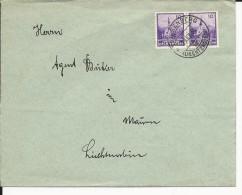 LIECHTENSTEIN - 1934 - ENVELOPPE De TRIESENBERG Pour MAUREN - Liechtenstein