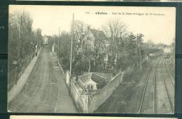 N°1331         CHATOU -    Rue De La Gare Et Ligne Saint Germain   - Faf30 - Chatou
