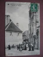 CPA 87 MAGNAC BOURG Sortie De L'Eglise TOP ANIMEE 1913  Canton SAINT GERMAIN LES BELLES - Sonstige Gemeinden