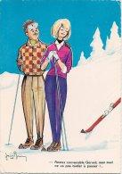 "L06B.12 - Carte Humoristique ""Sports D'hiver"" Jean Brian - Combier N°12 - Humour"