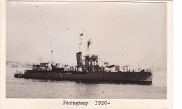 Batiment Militaire Marine Paraguay 1930 Canonniere Des Chantiers Italiens Tampon Coll Melin Et Havet - Boats