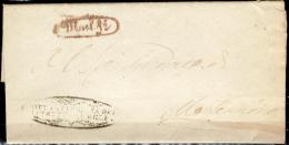 Melfi-00442 - Piego Del 15 Luglio 1858 (con Testo) - Raro Documento Per Il Colore Del Bollo - - Italia
