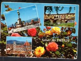 J1106 Saluti Da Firenze ( Florence, Toscana )  Multipla, Multivues, Multiviews - Fiori, Fleurs, Flowers - Ed. CECAMI - Firenze