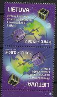 2014 Litauen Lietuva Mi. 1170 **MNH Kehrdruck  Start Der Ersten Litauischen Satelliten - Space