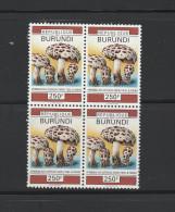 9] Bloc De 4 Oblitéré Cancelled Bloc Of 4 Burundi Champignon Mushroom 250 F - Burundi