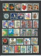 Lotpm 65 - Un Page D´ Album De Timbres Obliteres Grand Format De GB - Grande-Bretagne