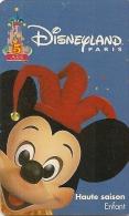 PASS-DISNEYLANDPARIS -1997-5 ANS-MICKEY-V°SPEOS- N° S 049720-TBE- - Pasaportes Disney