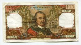 """P France 100 Francs """""""" CORNEILLE """""""" 7 - 3 - 1968 # 2 - 1962-1997 ''Francs''"""