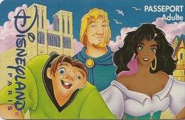 PASS-DISNEYLANDPARIS -1997-LE BOSSU ADULTE-V° N°S 089629-TBE- - Pasaportes Disney