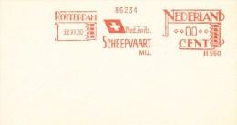 Ema, Meter, Specimen, H550, Zwitserland, Switzerland, Scheepvaart, Shipping, Vlag, Flag, White Cross - Vlag