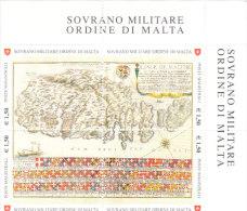 SMOM 2008 ANTICHE TAVOLE GEOGRAFICHE ISOLA DI MALTA - BLOCCO INTEGRO - Sovrano Militare Ordine Di Malta