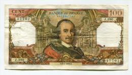"""P France 100 Francs """""""" CORNEILLE """""""" 2 - 1 - 1969 - 1962-1997 ''Francs''"""