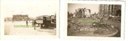 WW2 PHOTO ORIGINALE Soldats Allemands & Destructions à BEAUVAIS OISE PICARDIE 1940 - 1939-45
