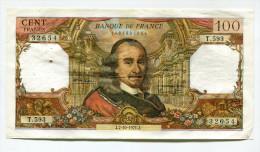"""P France 100 Francs """""""" CORNEILLE """""""" 7 - 10 - 1971  # 2 - 1962-1997 ''Francs''"""