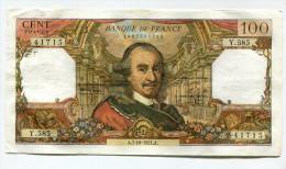 """P France 100 Francs """""""" CORNEILLE """""""" 7 - 10 - 1971  # 3 - 1962-1997 ''Francs''"""