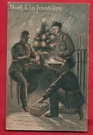 DDS-24 Noël à La Frontière, Cadeaux, Sapin, Militaires. Non Circulé, Tache Au Dos. - Weihnachten