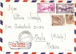 BUSTA VIA AEREA SPEDITA PER IROLO (HIDALGO) MESSICO - 1946-60: Marcophilie