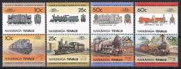 B010 TREINEN TRAINS ZUGE EISENBAHN LOCOMOTIVES SPOOR SPUR TUVALU NANUMAGA 1985 PF/MNH - Trains
