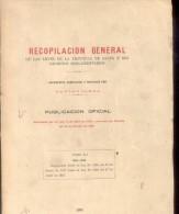 RECOPILACION GENERAL DE LAS LEYES DE LA PROVINCIA DE SALTA Y SUS DECRETOS REGLAMENTARIOS TOMO XI 1918-1923 - Verzameling