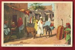 DAF-04 Une Rue De Village Arabe, Ane, Très Animé. Scènes Et Types.  Non Circulé - Postcards