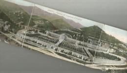 GENOVA Panorama Del Camposanto Di Staglieno Hotel SMITH (3 Parti) 9 X 41 Cm ! 1906 - Genova