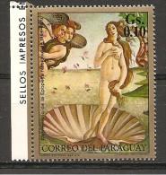 PARAGUAY - 1970 BOTTICELLI  Venere  Nuovo**  MNH - Arte