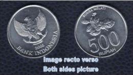 Indonésie 2003 Monnaie Coin Moeda Moneda 500 Rupiah Bunga Melati Jasmin - Indonesia