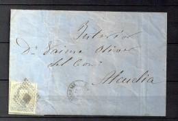 1873 BALEARES, CARTA CIRCULADA ENTRE ANDRAIS Y ALCUDIA, MAT. ROMBO DE PUNTOS, LLEGADA AL DORSO - 1872-73 Königreich: Amédée I.
