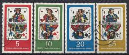 Germany (DDR) 1967  Deutsche Spielkarten  (o)  Mi.1298-1301 - Usati