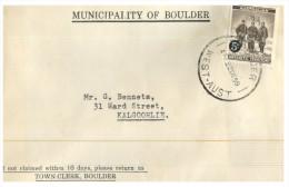 (345) Australia - BOulder Council Mail - Antarctica Exploration 5 C Stamp - Briefe U. Dokumente
