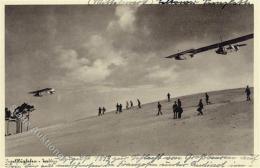 55105216 - Segelflugzeug Trebbin (o-1712) Ansichtskarte I-II - Flugwesen