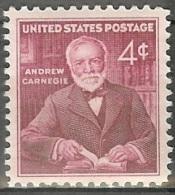 1960 4 Cents Carnegie, Mint Never Hinged - Verenigde Staten