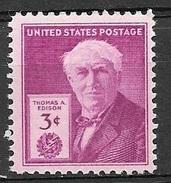 1947 3 Cents Edison, Mint Never Hinged - Verenigde Staten