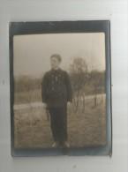 Photographie , 12 X 9 , Enfant , Uniforme , Médaille , 2 Scans - Personnes Identifiées