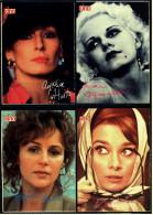 4 X Kino-Autogrammkarte  -  Repro, Signatur Aufgedruckt  -  Audrey Hepburn  -  Jean Harlow  -  Bonnie Bedelia - Autogramme