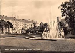 BG1034 Dessau Blick Vom Stadtpark Auf Wilhelm Pieck Strass CPSM 14x9.5cm Germany - Dessau