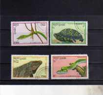KAMPUCHEA - CAMBOGIA CAMBODIA 1988 FAUNA REPTILES  RETTILI ANIMALI USED USATI OBLITERE' - Kampuchea