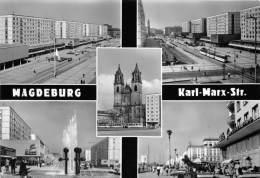 BG854 Magdeburg Karl Marx Str Tramway  CPSM 14x9.5cm Germany - Magdeburg