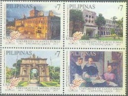 Philippines 2011 St. Thomas University Was Founded 400 Years: Building 4V8.00 - Filipinas