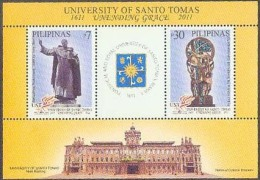 Philippines 2011 St. Thomas University Was Founded 400 Years: Carved Lance Sheetlet 1S / S12.00 - Filipinas
