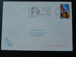 06 Alpes Maritimes Nice Aeroport Airport 1995 - Flamme Sur Lettre Postmark On Cover - Vliegtuigen