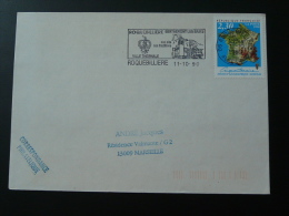 06 Alpes Maritimes Roquebilliere - Flamme Sur Lettre Postmark On Cover - Marcophilie (Lettres)
