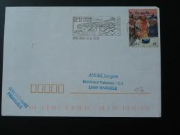 06 Alpes Maritimes St-André De La Roche - Flamme Sur Lettre Postmark On Cover - Marcophilie (Lettres)